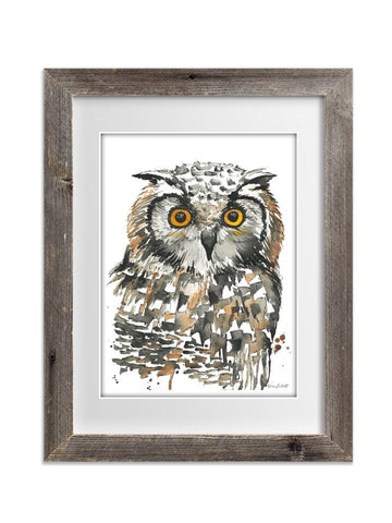 Night Owl Watercolor Print - F. W. Woolworth Co. Online Store