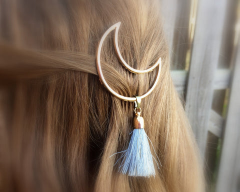 Crescent Moon Tassel Hair Clip - F. W. Woolworth Co. Online Store