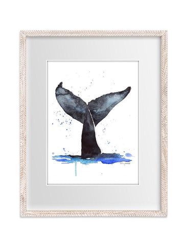 Whale's Tale Illustration Watercolor Painting Print