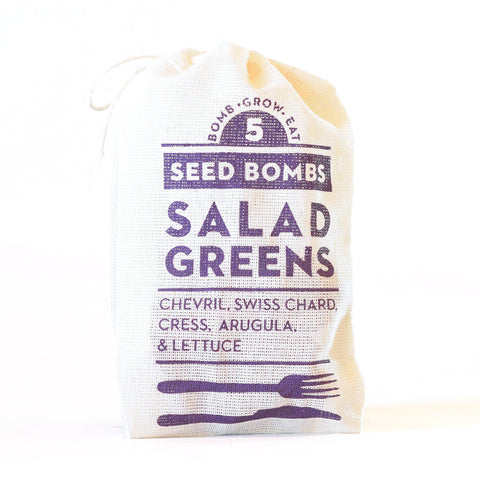 Salad Greens Seed Bombs - Indoor/Outdoor Gardening