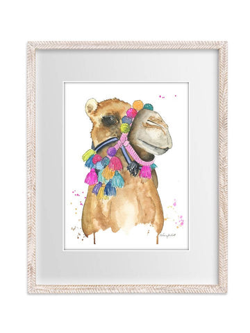 Tasseled Camel Watercolor Painting Print - F. W. Woolworth Co. Online Store