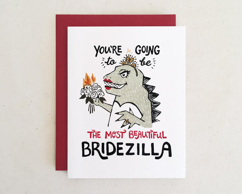 'Beautiful Bridezilla' Greeting Card