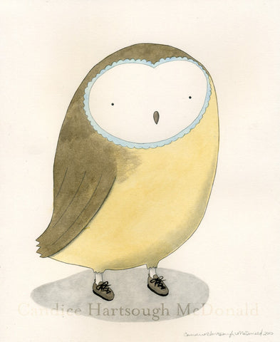 Sweet Owl Art Print - F. W. Woolworth Co. Online Store