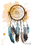 Dream Catcher Illustration Watercolor Painting Print - F. W. Woolworth Co. Online Store