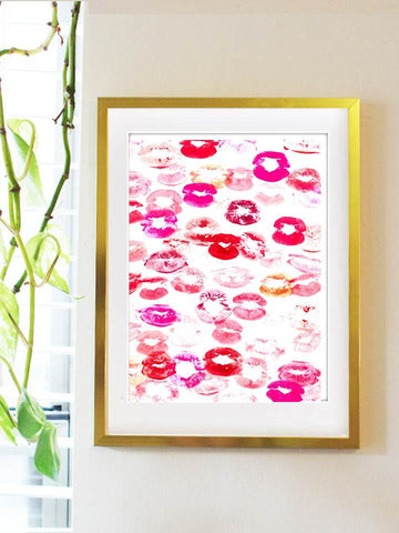 Smooch Watercolor Print