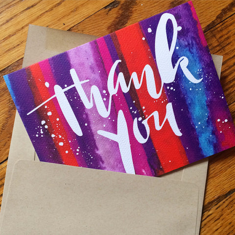 Watercolor Thank You Card - F. W. Woolworth Co. Online Store