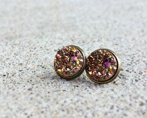 Autumn Faux Druzy Earrings