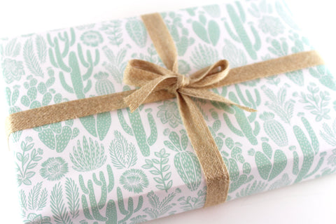 Cactus Gift Wrap - 3 Sheets - F. W. Woolworth Co. Online Store