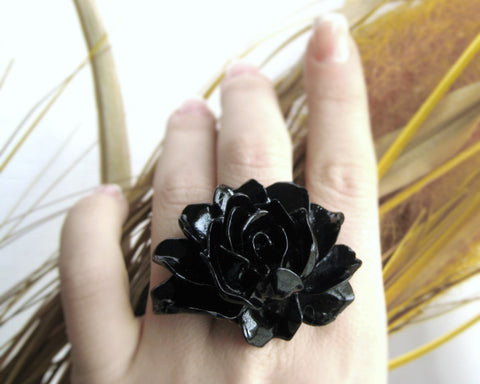 Large Statement Lolita Rose Ring