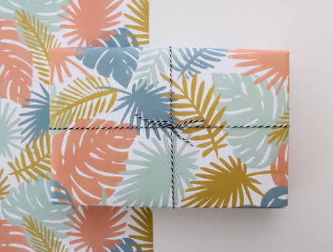Palms Gift Wrap - 3 Sheets - F. W. Woolworth Co. Online Store