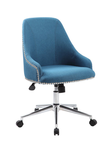 Boss Carnegie Desk Chair - Peacock Blue - F. W. Woolworth Co. Online Store