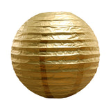 "Round Paper Lanterns (10"") Metallic Gold- 5 Count - F. W. Woolworth Co. Online Store"