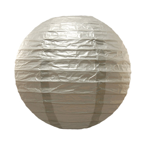 "Round Paper Lanterns (10"") Metallic Silver- 5 Count - F. W. Woolworth Co. Online Store"