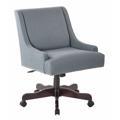 Inspired by Bassett Everton Office Chair With Silver Nail Heads And Klein Sea - F. W. Woolworth Co. Online Store