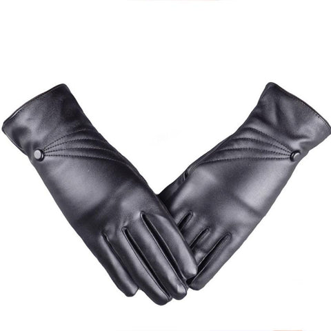 Classic Pleather Gloves