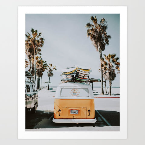 Let's Surf Art Print