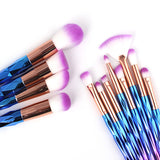 Holographic Unicorn Makeup Brush Set | 12pc - F. W. Woolworth Co. Online Store