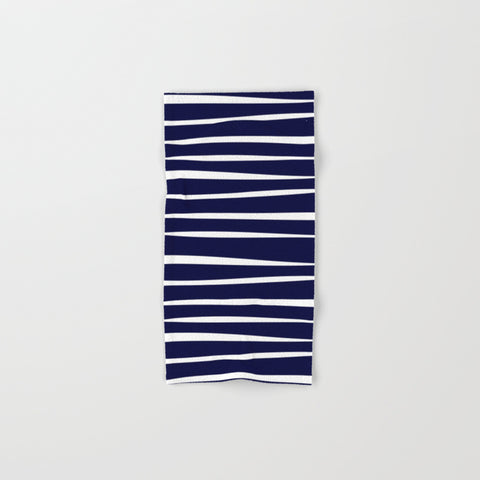 Maritime Stripes Navy Hand & Bath Towel Set - F. W. Woolworth Co. Online Store