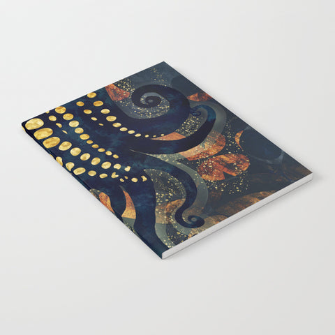 Metallic Ocean Notebook - Lined