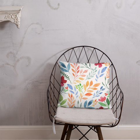 Watercolor Floral Print Pillow - F. W. Woolworth Co. Online Store