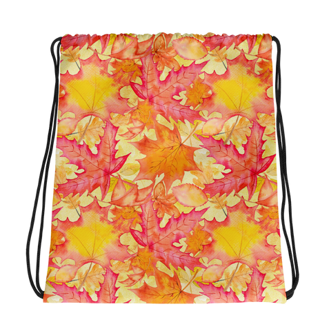 Fall Leaves Drawstring Backpack