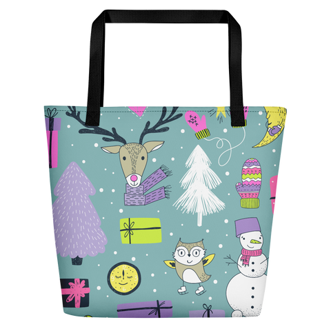 Reusable Holiday Presents Tote Bag