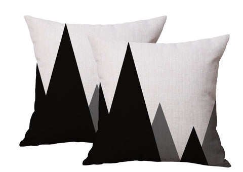 Geometric Mountain Pillowcase (Set of 2)