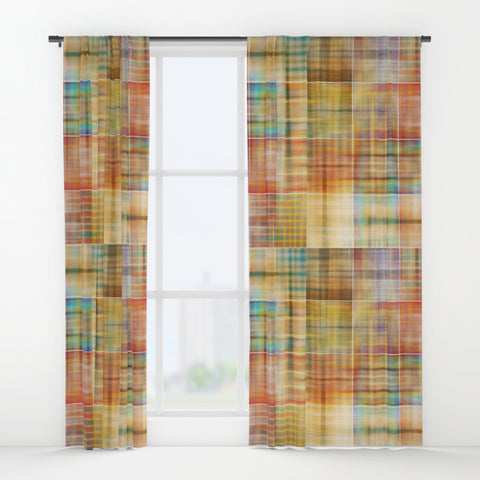 Multicolored Patchwork Mosaic Window Curtains