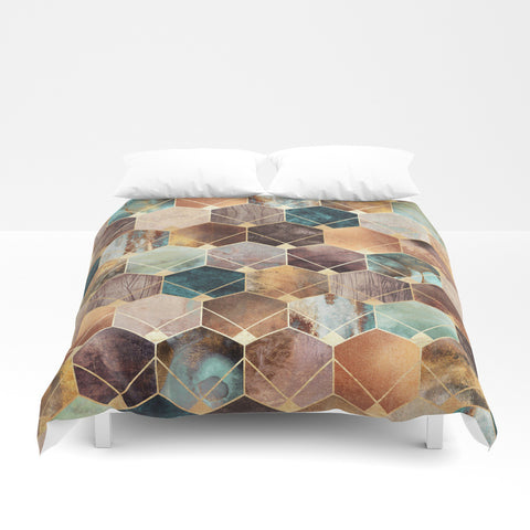 Natural Hexagons And Diamonds Duvet Cover - F. W. Woolworth Co. Online Store