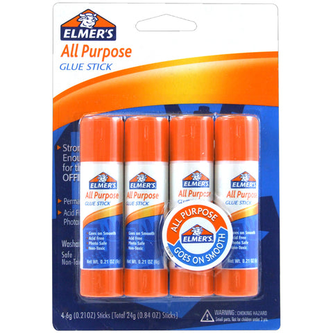 Elmer's All-Purpose Glue Sticks 4/Pkg