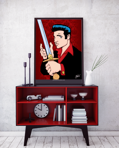 Parisi Studios: Elvis with Sword