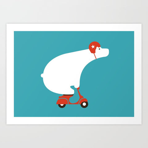 Polar Bear on a Scooter