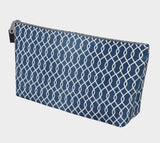 Blue Canvas Makeup Case
