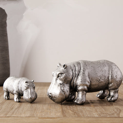 Hippo Family Resin Decor - 2 pc - F. W. Woolworth Co. Online Store