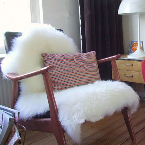 Super Soft Faux Sheepskin Chair Cover - F. W. Woolworth Co. Online Store