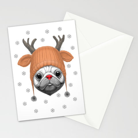 Pug Rudolph Greeting Card - F. W. Woolworth Co. Online Store