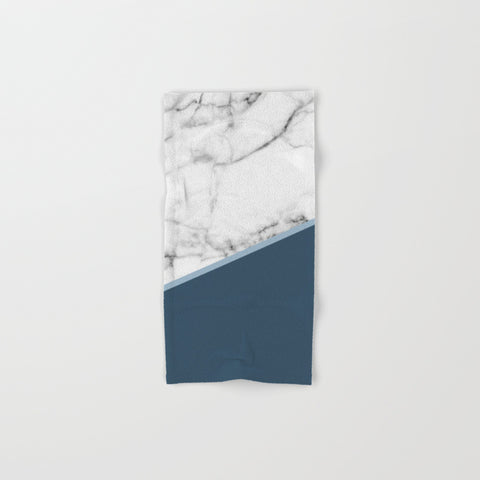 Marble Ocean Hand & Bath Towel Set