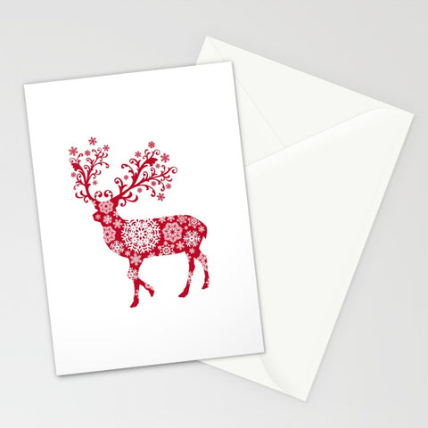 Red Christmas Deer Greeting Card - F. W. Woolworth Co. Online Store