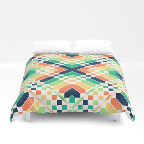 Retrographic Duvet Cover