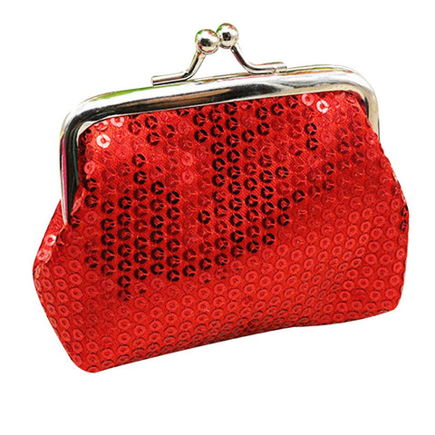 Retro Sequin Coin Purse