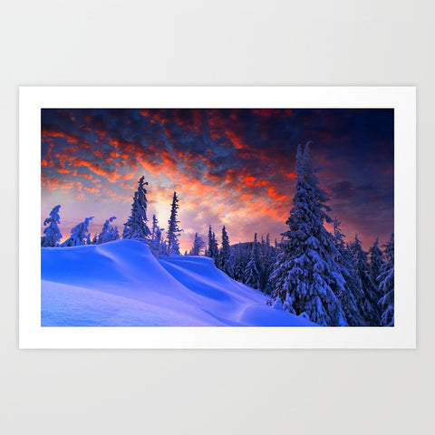 Snowy Sunset Art Print - F. W. Woolworth Co. Online Store