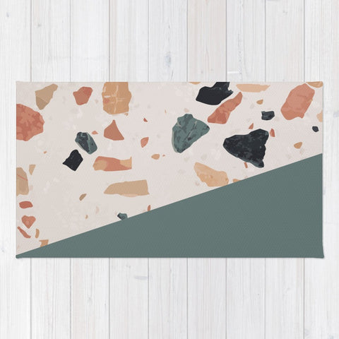 Terrazzo Texture Antique Green #1 Floor Mat - F. W. Woolworth Co. Online Store