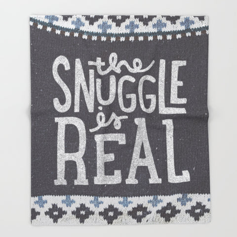 The Snuggle is Real Printed Throw Blanket - F. W. Woolworth Co. Online Store