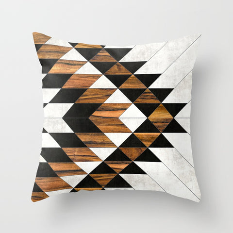 Urban Tribal Pattern Throw Pillow
