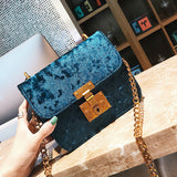 Blue Crunched Velvet Crossbody Bag - F. W. Woolworth Co. Online Store