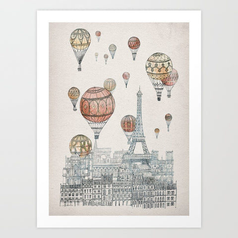 Voyages Over Paris Art Print - F. W. Woolworth Co. Online Store