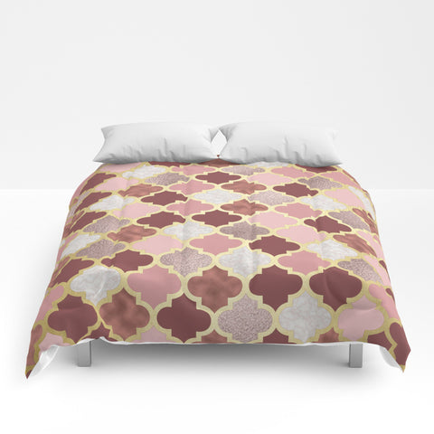 Warm Rose Gold Moroccan Comforter - F. W. Woolworth Co. Online Store