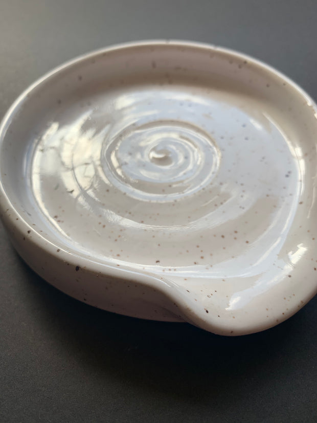 Speckled Ceramic Soap Dish