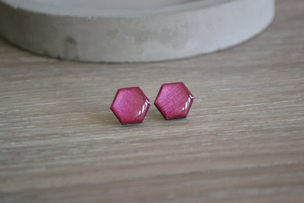 Berry Hexagon Studs
