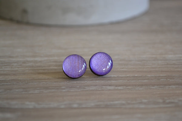 Metallic Purple Studs